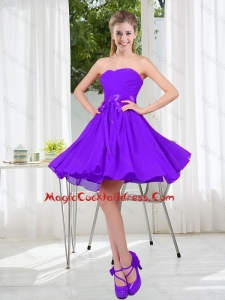 2016 Fall A Line Sweetheart Cocktail Dress in Purple