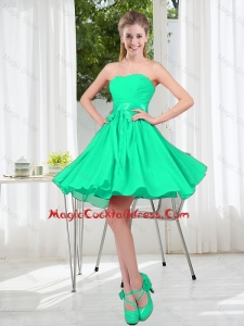 A Line Sweetheart Belt Cocktail Dresses for Party