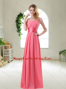 Cheap Watermelon Red Cocktail Dresses with One Shoulder