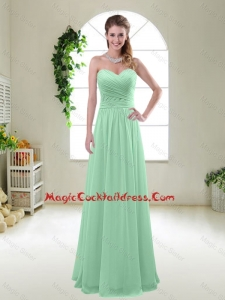 Comfortable Sweetheart Apple Green Cocktail Dresses with Ruching