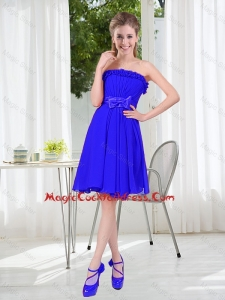 Short Strapless Cocktail Dresses for Wedding Party