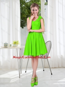 A Line Hand Made Flowers Cute Cocktail Dresses in Spring Green
