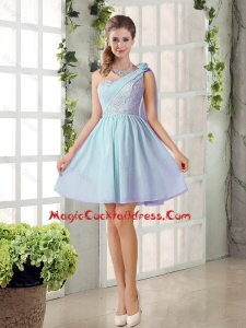 2016 Custom Made A Line One Shoulder Lace Cute Cocktail Dresses for Party