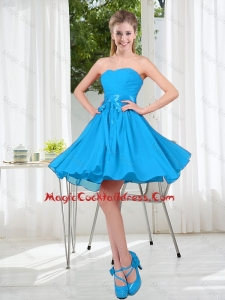 2016 Summer A Line Sweetheart Sexy Cocktail Dress in Baby Blue