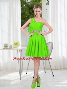 2016 Short One Shoulder Vintage Cocktail Dresses with Beading