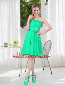 A Line Strapless Turquoise Vintage Cocktail Dresses for Spring