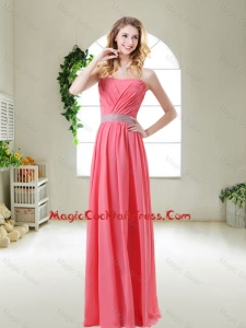 Elegant Strapless Sexy Cocktail Dresses in Watermelon Red