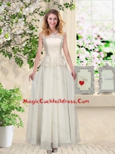 Perfect Champagne Sexy Cocktail Dresses with Appliques and Lace