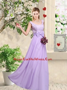 Classical 2016 Bowknot Vintage Cocktail Dresses with Floor Length