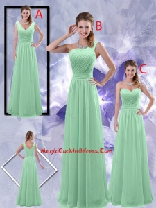 Perfect Zipper up Ruched Vintage Cocktail Dresses in Apple Green