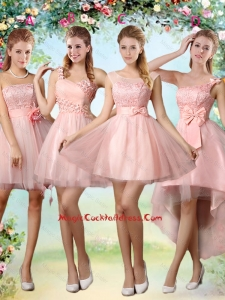 Popular A Line Pink Vintage Cocktail Dresses with Lace and Appliques