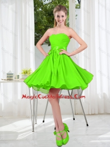 2016 Summer A Line Sweetheart Cheap Cocktail Dresses in Spring Green