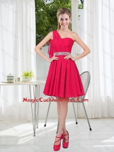 Elegant One Shoulder Short Cheap Cocktail Dresses for Wedding Party