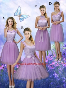 New Style Appliques Tulle Vintage Cocktail Dresses with Knee Length