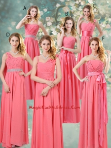 Fashionable Ruched Cocktail Dresses in Watermelon Red