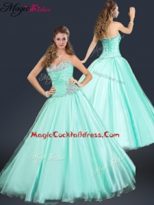 2016 Perfect Sweetheart Beading Cocktail Dress in Apple Green