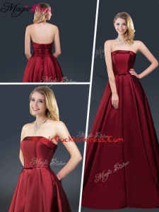 Winter Gorgeous A Line Strapless Cocktail Dresses with Brush Train