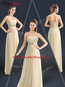 Latest Sweetheart Beading Cocktail Dresses in Champagne