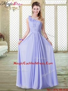 Lovely Empire One Shoulder Best Cocktail Dresses in Lavender