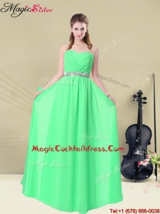 2016 Summer Gorgeous Sweetheart Floor Length Hot Sale Cocktail Dresses with Ruching and Belt