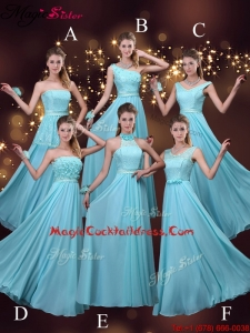 2016 Cheap Empire Aqua Blue Plus Size Cocktail Dresses