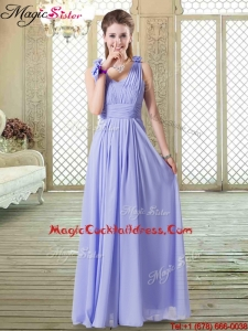 Romantic Empire Straps Popular Cocktail Dresses in Lavender