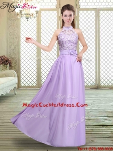 Sweet High Neck Lace Lavender Popular Cocktail Dresses