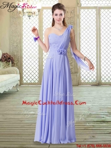 2016 Beautiful One Shoulder Floor Length Hot Sale Cocktail Dresses for Spring