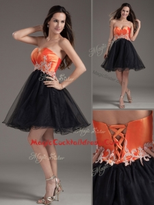 Inexpensive Princess Sweetheart Appliques Lace Up Cocktail Dresses