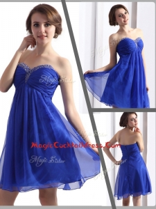Perfect Sweetheart Beading Short Cocktail Dresses in Blue