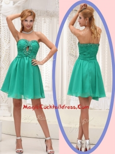 Perfect Sweetheart Beading Short Cocktail Dress for 2016