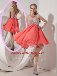 Lovely Sweetheart Mini Length Beading Cocktail Dress for Homecoming