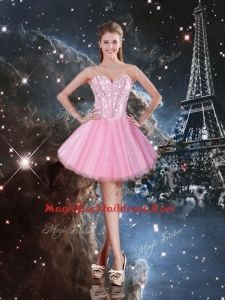 2016 Beautiful Sweetheart Beading Short Cocktail Dresses in Pink