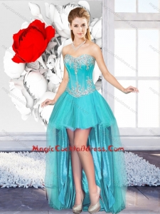 A Line Sweetheart Beautiful 2016 Prom Gowns with High Low