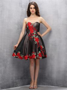 Cute Brown and Pink And Black Sleeveless Chiffon Zipper Cocktail Dresses for Prom