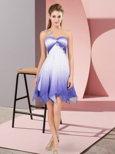 Multi-color Sleeveless Asymmetrical Beading Lace Up Cocktail Dresses