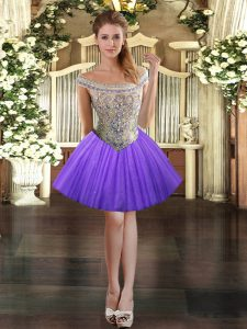 Low Price Tulle Sleeveless Mini Length Cocktail Dresses and Beading