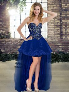 Best Sweetheart Sleeveless Tulle Cocktail Dresses Beading Lace Up