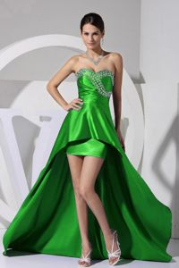 2013 Green Sweetheart High-low Cocktail Dress For Celebrity in USA