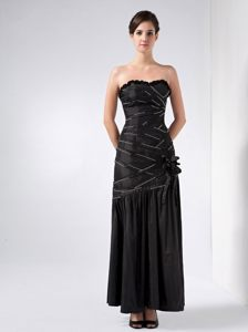 Black Strapless Beading Cocktail Reception Dress in Pennsylvania