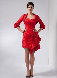 Red Column Sweetheart Homecoming Cocktail Dresses in Oklahoma