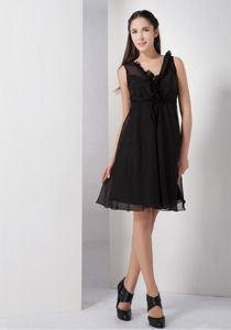 Black A-line V-neck Black Cocktail Party Dresses in North Carolina