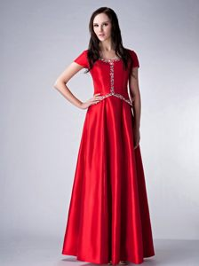 Red Empire Scoop Floor-length Cocktail Dress For Prom in Nevada