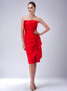 Red Sheath Strapless Dress For Wedding Cocktail Party in Minnesota