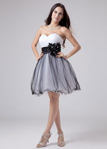 White and Black Sweetheart Knee-Length Cocktail Dress in Kentucky