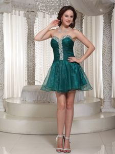 Peacock Green Rhinestones Homecoming Cocktail Dresses in Hawaii