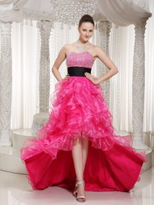 Hot Pink Front Short Back Long Prom Cocktail Dress in Florida