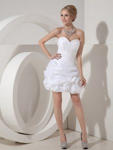 Sweetheart Homecoming Cocktail Dresses with Pleated Bodice and Pick-up Skirt
