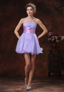 Mini-length Ruched Bust Lilac Beaded Waist Columbia SC Cocktails Dresses