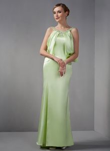 Maine Spring Green Homecoming Cocktail Dress with Scoop Neckline